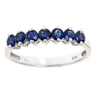 yach 14k White Gold Ceylon Blue Sapphire Ring