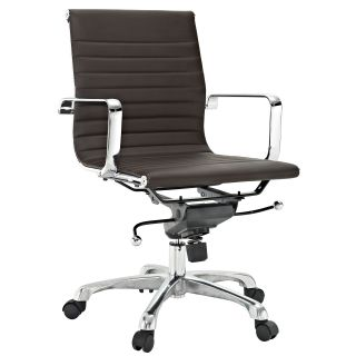Malibu Mid back Brown Vinyl Office Chair Today $199.99