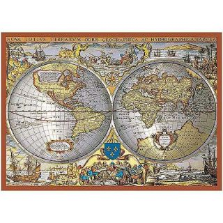 World Map Metallic 1000 pc Jigsaw Puzzle