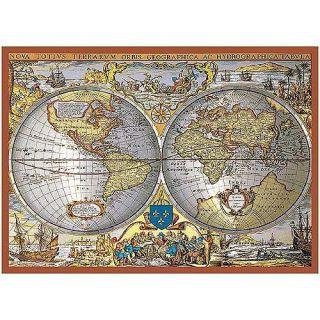 World Map Metallic 1000 pc Jigsaw Puzzle