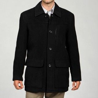 Cole Haan Mens Wool and Cashmere Blend 5 pocket Coat