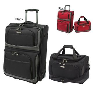 Travelers Choice TC9702 Rugged Supreme 2 Piece Carry On Luggage Set