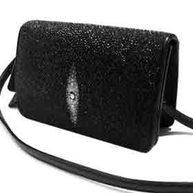 Stingray Leather Clutch Bag w/ Removable Strap Shoes