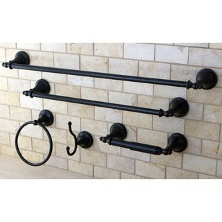 Naples Oil Rubbed Bronze 5 piece Bathroom Accessory Set