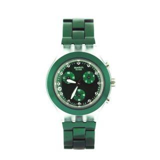 Swatch Womens Green Aluminum Watch