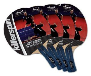 Killerspin 110 09 Jet Set 4 Table Tennis Racket Set, 4