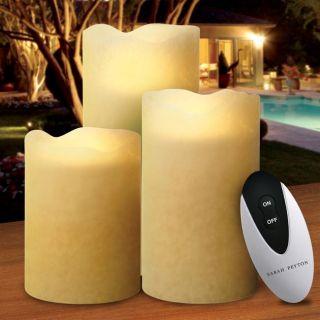 Sarah Peyton 3 piece Flameless Candle Set with Remote