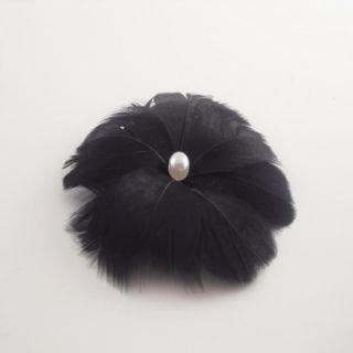 Black Feather Hair Clip Bow Clippeez 2 Envy