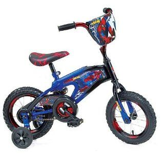 Street Flyers 12 inch Spider Man BMX Bike   Boys   Yellow