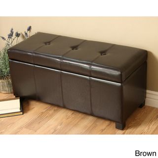 Warehouse of Tiffany Ariel Faux Leather Storage Bench