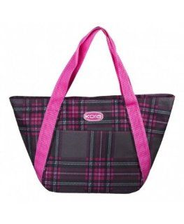 Fashion Lunch Tote, Style K5 112, Pink Plaid