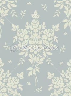 Floral vintage seamless pattern for retro wallpapers  Vector Stock