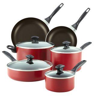 Farberware Red 14 piece Cookware Set