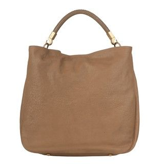 Yves Saint Laurent Large Roady Tan Leather Hobo Bag
