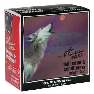 Hair Color & Conditioner, Bright Red, 4 oz (113 g) (Pack of 3): Beauty