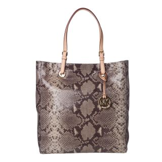 Michael Kors Jet Set Snake Embossed Leather Tote Bag