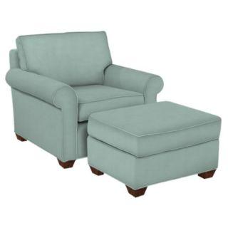 Ellen Fabric Seafoam Arm Chair