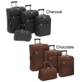 London Fog Oxford Classic 4 piece Expandable Luggage Set