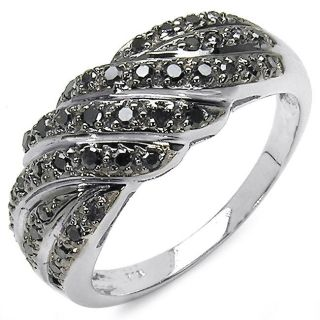 Sterling Silver 3/8ct TDW Black Diamond Fashion Ring