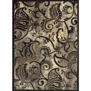 Allestra Melancholic Garden Grey Rug (4 x 6)