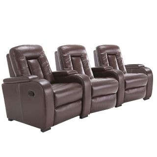 Michael 5 piece Leather Recliner Home Theater Set