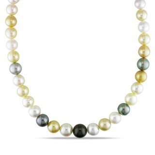 Miadora 14k Gold South Sea and Tahitian Pearl Necklace (10 12.5 mm