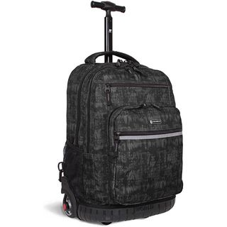 World Sundance Black Frost 19.5 inch Rolling Backpack with Laptop