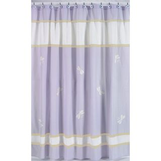 Purple Dragonfly Dreams Kids Shower Curtain