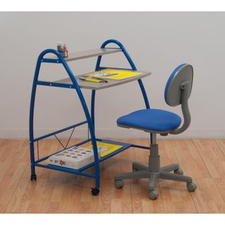 Studio Designs Blue 2 Piece Arc Center Desk Set