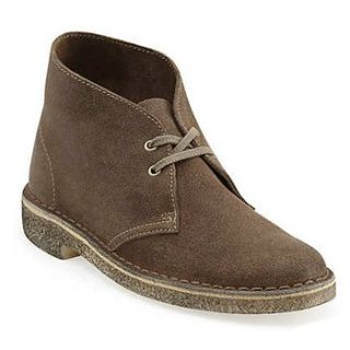 Clarks Desert Boot for Men 9.5 Taupe Suede Shoes