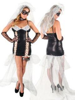 Dead Bride Sexy Plus Size Black Widow Costume   1XLARGE