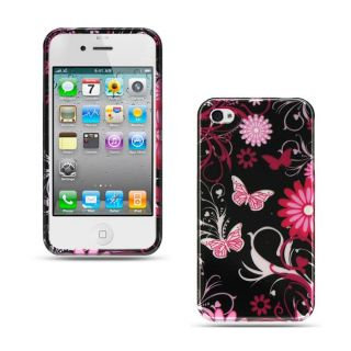 Premium iPhone 4/ 4S Pink Butterfly Protector Case