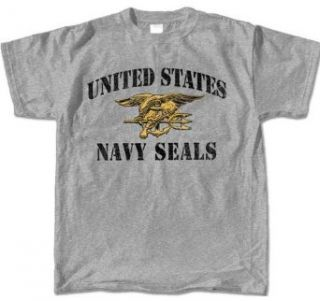 Navy Seals Stencil Military Adult T Shirt Clothing