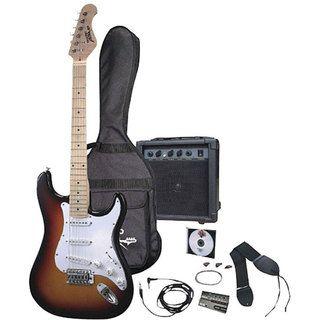 Pyle 3 color Sunburst Electric Guitar Starter Package
