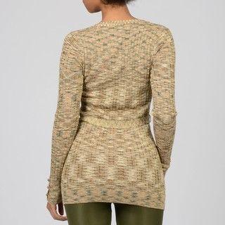 WR9000 Womens Gold Lurex Cardigan Sweater