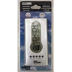 Minder Research MRI 122AG Wired Indoor Outdoor Thermometer with Clock