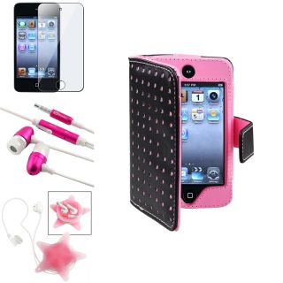BasAcc Pink Case/ Protector/ Headset for Apple iPod Touch Generation 4