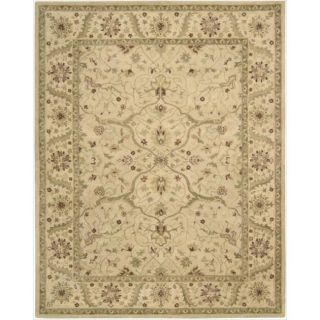 Charleston Ivory/ Beige Wool Rug (96 x 136)
