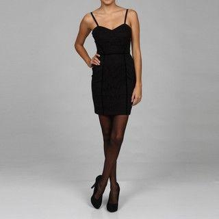 Jessica Simpson Juniors Black Corset Dress