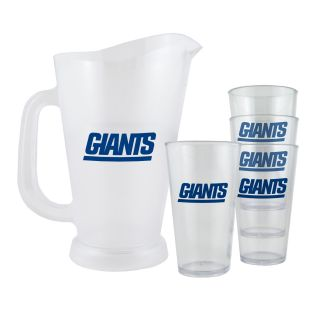 New York Giants NFL Pitcher and Pint Glasses Set