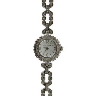 Betsey Johnson Womens Silver Stone Watch