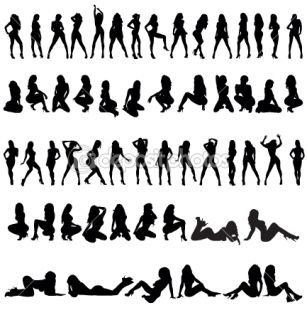 56 SILHOUETTES FEMMES