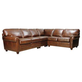 Alexi Havana 4 piece Top Grain Italian Leather Sectional Sofa Set