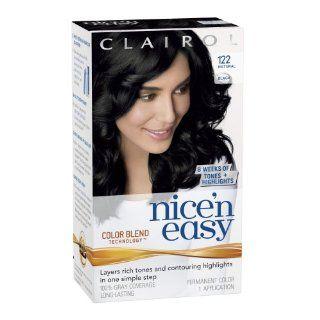 Nice n Easy Hair Color 122 Natural Black 1 Kit (Pack of 3) Beauty