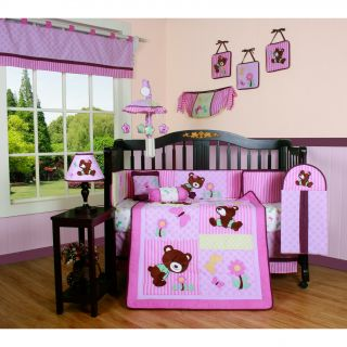 Pink Teddy Bear 13 piece Crib Bedding Set Today $114.49
