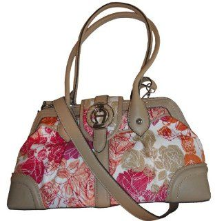 Etienne Aigner Purse Handbag Flora Collection Pink Floral Shoes