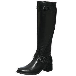 Etienne Aigner Womens Captain Black Riding Boots