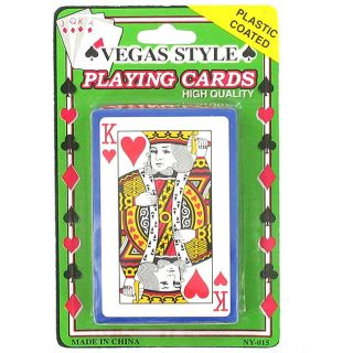 Plastic Coated Vegas Style Playing Cards (Case of 144)