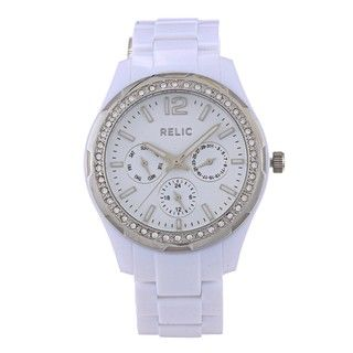 Relic Womens Starla White Resin Watch