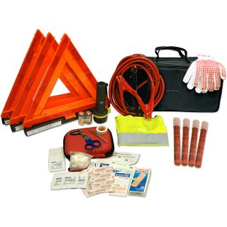 Car/Truck 67 piece Road Safety Kit in a Premium Carrying Case